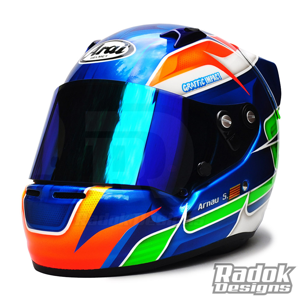 Arai Ck6 Karting decorado