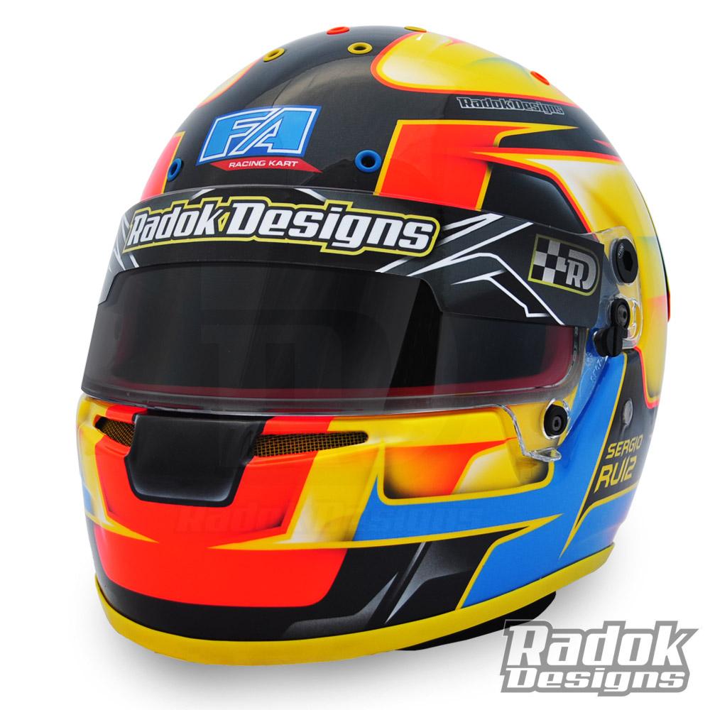 Casco personalizado fa racing kart