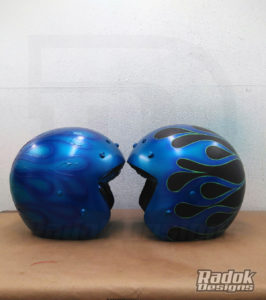 Casco jet flaming metalflake