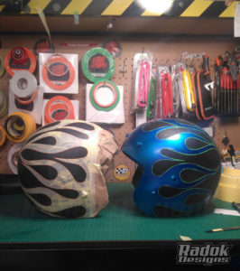 Cascos jet flaming candy